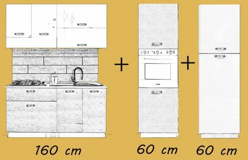 cucina da 160 cm mabel s r l. Black Bedroom Furniture Sets. Home Design Ideas